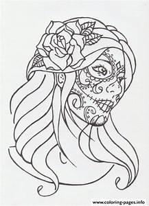 Sugar Skull Girl By Avengedginge D479m8o Coloring Pages ...