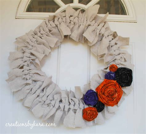 shabby fabric tutorial shabby canvas wreath tutorial halloween style