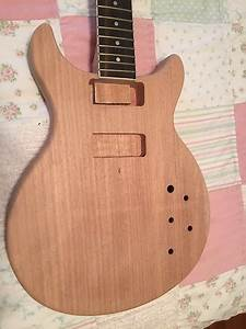 Les Paul Jr Style Guitar Kit Double Cutaway Unfinished