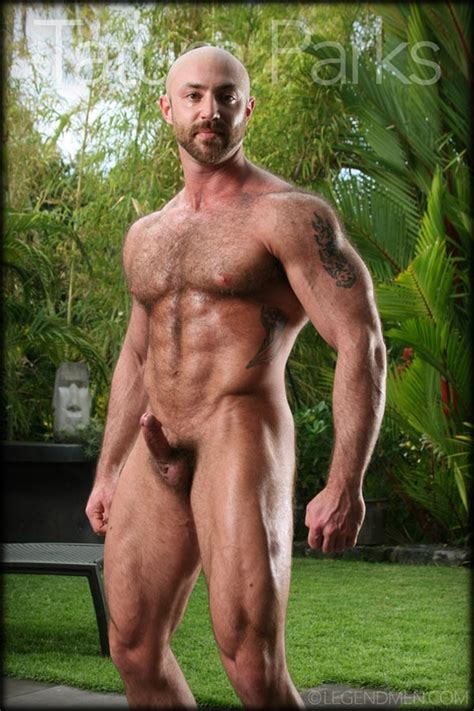 Hairy Big Muscle Bodybuilder Tatum Parks Jerks Out A Huge