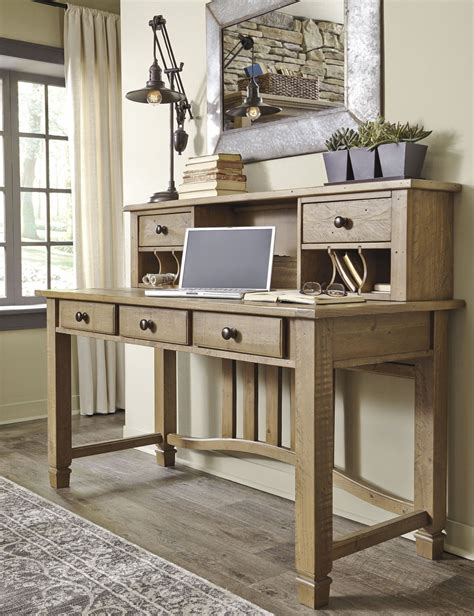 gray desk with hutch trishley weathered gray desk with hutch h659 27 48 ashley