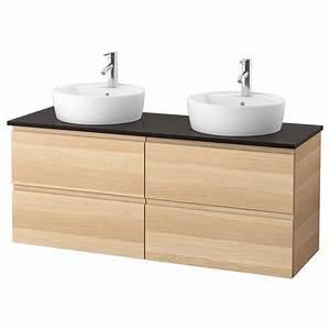 meuble double vasque ikea collection et meuble rangement With meuble salle de bain et vasque