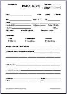hazard report form template 13 accident report forms free sle exle format download 8