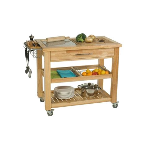 kitchen islands carts chris chris pro chef kitchen cart with chop and 5241