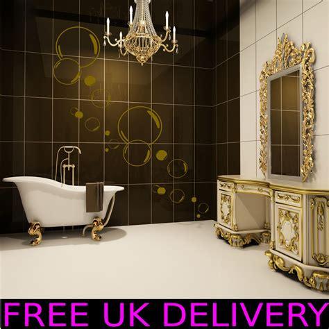 Large Big Bubbles Bathroom Wall Art Stickers Decal Vinyl