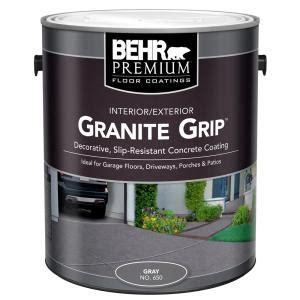 BEHR 1 gal. #65001 Gray Granite Grip Interior/Exterior