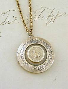 locket necklace initial letter l vintage by With letter locket