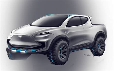 Ford Raptor Competitor by Tesla Truck Rendered As Ford F 150 Raptor Competitor