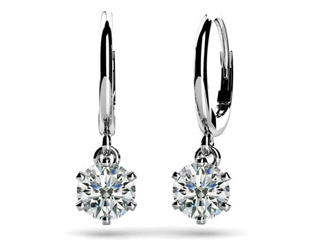 solitaire drop earrings top 4 ways to choose drop earrings to wear