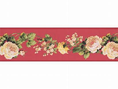 Border Rose Floral Borders Paper Wall Prepasted