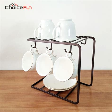 Free delivery and returns on ebay plus items for plus members. ChoiceFun Hanging Stainless Steel Coffee Cup Rack Shelf Stand Kitchen Storage Organizer Drink ...