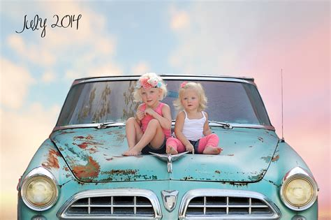Mick Luvin Photography  Sibling Love Retro Car Then & Now