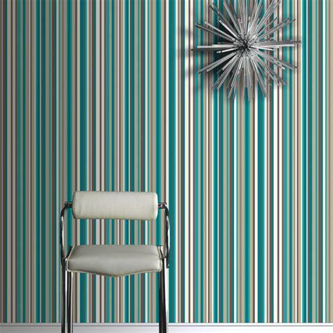arthouse sophia stripe wallpaper teal