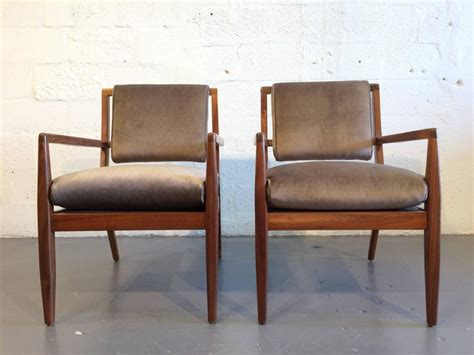 Pair Of Modern Walnut Armchairs, Usa, 1950s For Sale At