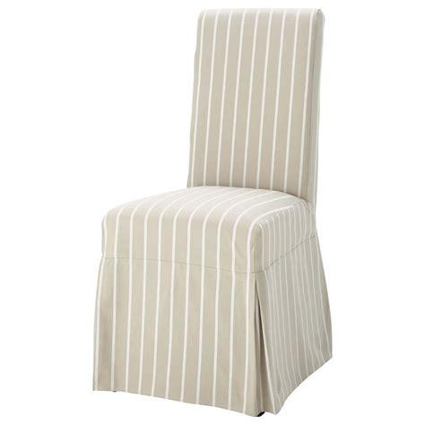 housse de chaise maison du monde housse longue de chaise à rayures en coton beige margaux