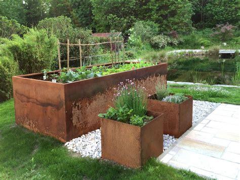 Hochbeet Aus Cortenstahl by Alles F 252 R Haus Und Garten Aus Metall Und Cortenstahl