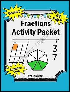 Fractions Common Core Math Activities 45 Pages For Grade 3 From Promoting Success On  U2026