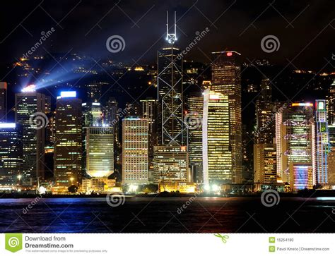 hong kong island stock photo image  busy high harbour