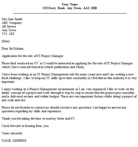Project Manager Cover Letter No Experience by Best 25 Project Manager Cover Letter Ideas On
