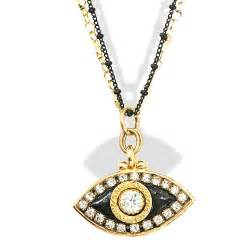 jewelry judaica black gold evil eye pendant necklace