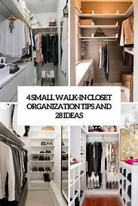 4 Small Walk-In Closet Organization Tips And 28 Ideas ...