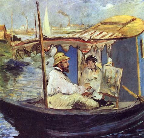 Manet Monet In His Studio Boat by Manet Edouard Bilder Index