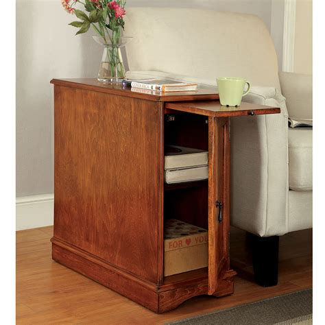 hutch with pull out table lilith ii accent side table stand storage shelves cabinet