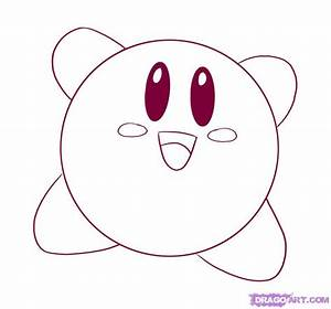 How to Draw Kirby, Step by Step, Video Game Characters ...