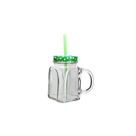 Bicchieri Verdi by Bicchiere Barattolo Con Cannuccia E Coperchio Verdi In