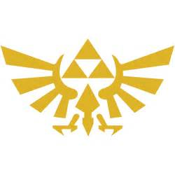 legend of zelda 4 quot hyrule crest triforce vinyl decal