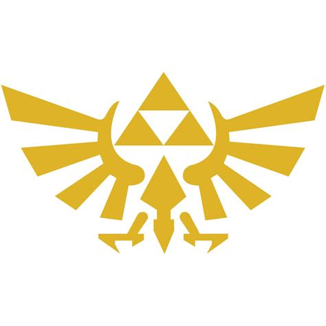 Triforce L by Legend Of 4 Quot Hyrule Crest Triforce Vinyl Decal