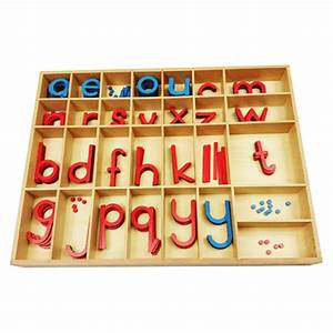 montessori box for print lma no letters With movable alphabet letters