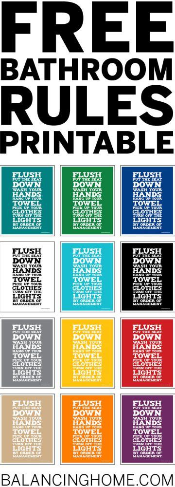 Printable Bathroom Signs For Kids  Just Bcause