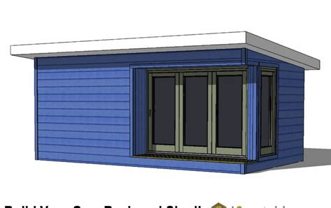 modern shed plans materials