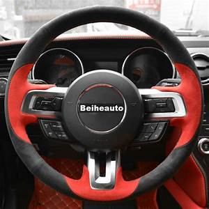 For Ford Mustang 15-20 Steering Wheel Cover EuroTone Two ...