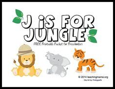 jungle theme weekly home preschool images