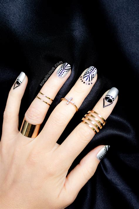 black and silver nail designs cuticle nail are you in