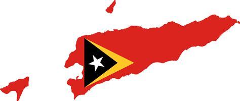 Clipart - East Timor Map Flag