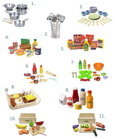 Play Kitchen Food And Accessories Basics Wishlist  Mommy