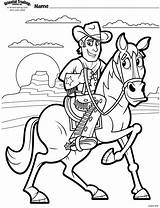 Coloring Pages Cowboy Cowboys Children Vbs Cow Preschool Western Programming Uploaded User sketch template