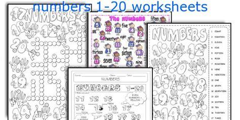 english teaching worksheets numbers 1 20