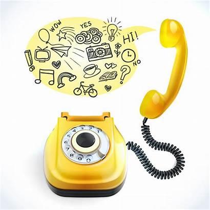 Telephone Doodle Vector Phone Freepik Holding Hand