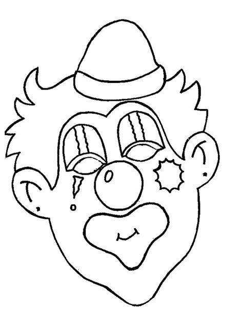 coloriage  clown au visage maquille dessin gratuit  imprimer