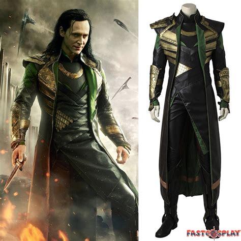 Thor The Dark World Loki Cosplay Costume Deluxe Version