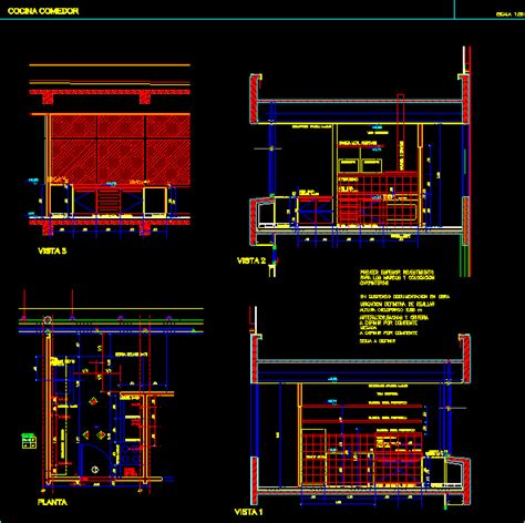 kitchen fittings appliances dwg full project  autocad