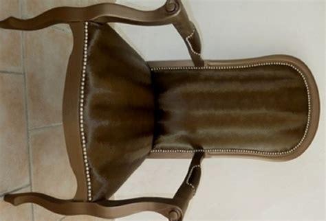 canape cuir chocolat fauteuil voltaire relooké à vendre la assise