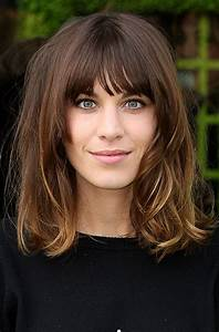 Love The Fringe And Long Bob And Color Hair