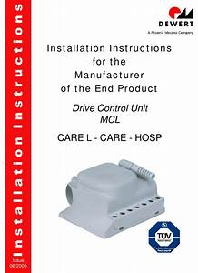 Dewert Mcl Installation Instructions Manual Pdf Download