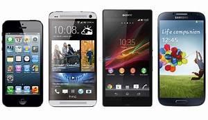 Apple iPhone 5 vs. HTC One vs. Sony Xperia Z vs. Samsung ...