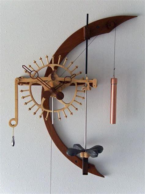 images  wooden gear clock  pinterest